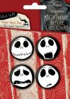 Pack de 4 Badges MISTER JACK - Faces